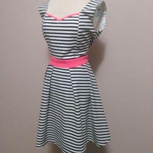 Tea & Cup stripped pink dress